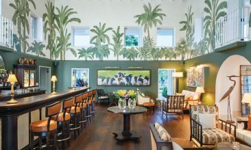 The Estate House's recently renovated bar area ALL OTHERS COURTESY OF JUMBY BAY