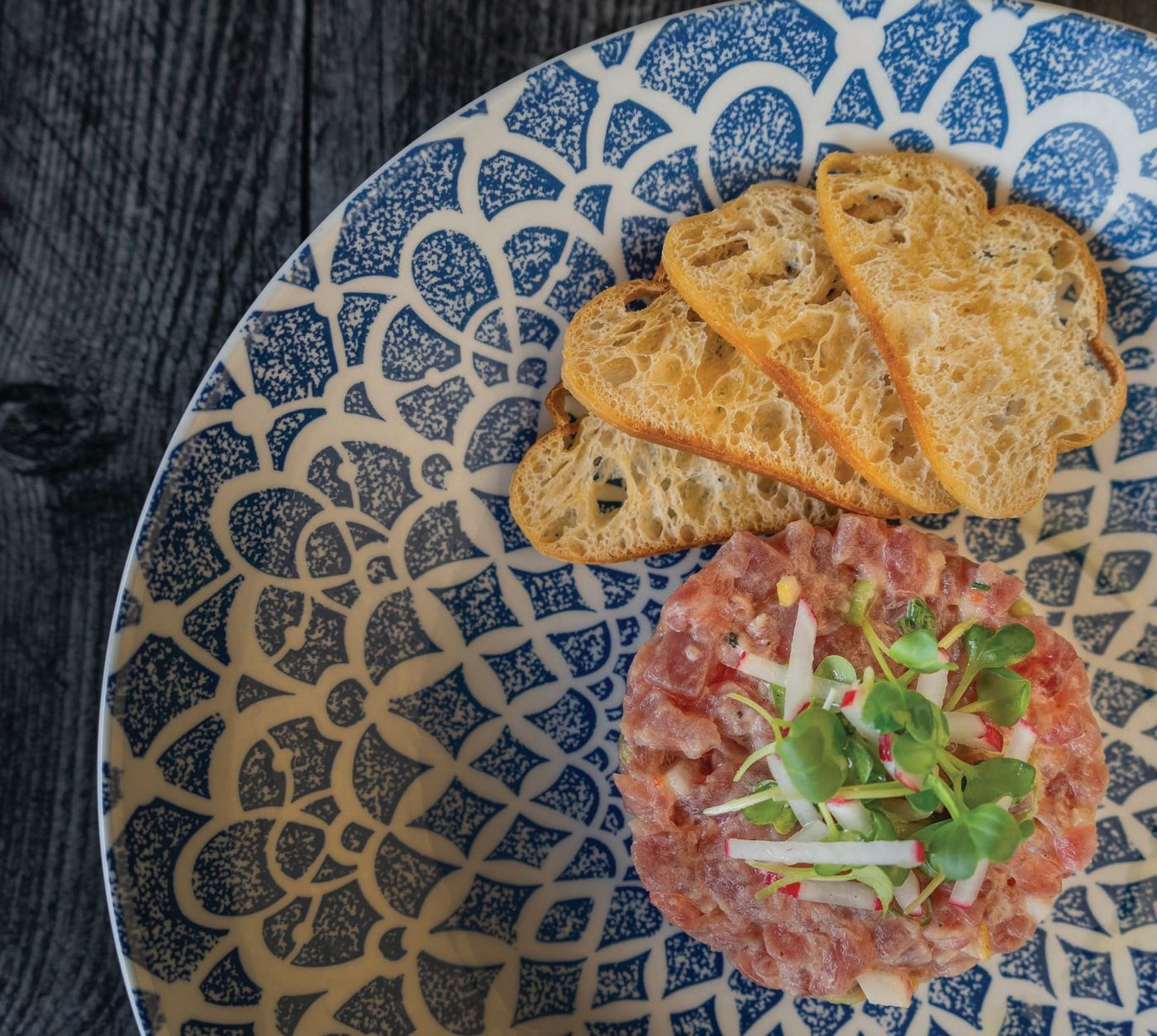 Tuna tartare at the new Rossetti Beverly PHOTO COURTESY OF ROSSETTI BEVERLY