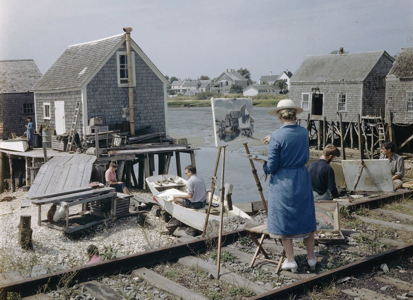 A plein-air painting class in 1947 takes place in a perfect setting in Wellfleet, Mass. PHOTO BY ANDREAS FEININGER/THE LIFE PICTURE COLLECTION/GETTY IMAGES